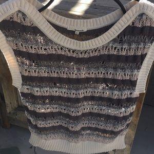 LA made open weave sweater vest